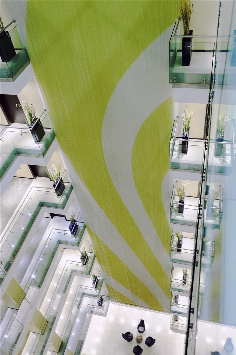 Indoor cladding hotel